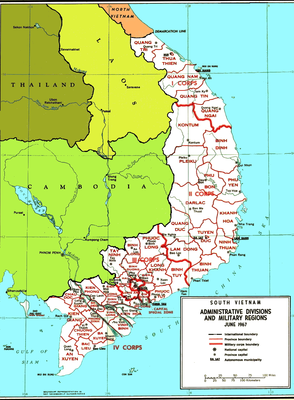 vietnam war resources rvn corps provinces map